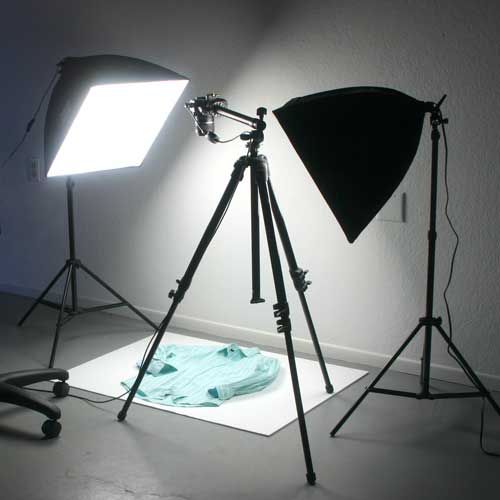 Using a Horizontal Tripod to Photograph Clothing Flat