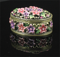 Ornamental box with reflection