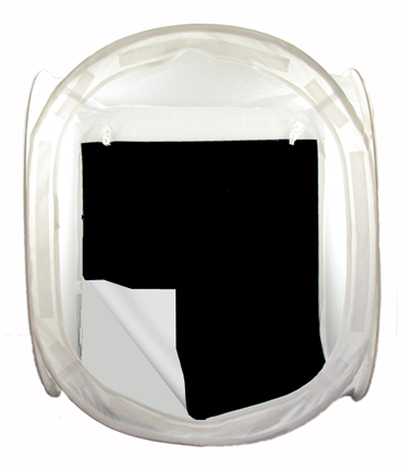 EZcube Reversible white and black flexible vinyl background