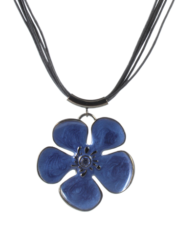 Blue Flower Necklace Suspended in EZcube Freeze Frame