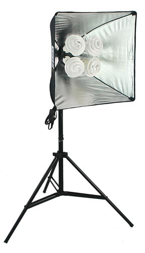 Kuhl Lite 120 Softbox            with TrumpetTop Daylght Bulbs for Product Photography