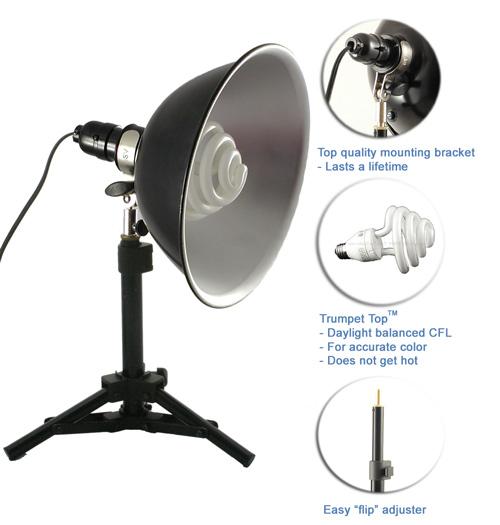 two tabletop lights set professional studio lighting